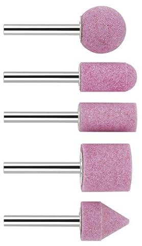 Bosch 2609256549 Assortiment de meules sur tige Grain 60 Diamètre 6 mm 5 pièces
