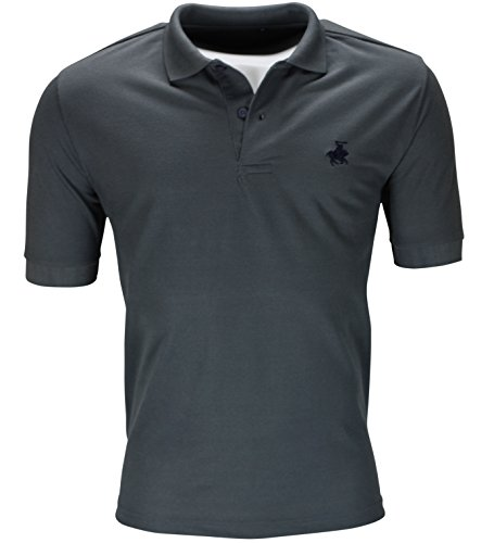 new-mens-polo-shirt-short-sleeve-plain-top-designer-style-fit-t-shirt-horse-pony-m-36-38