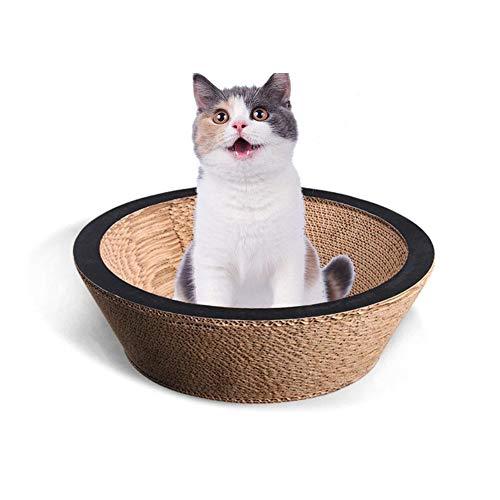 Ciotola di Carta Cartone Ondulato Gatto Giocattolo Gatto gratta e Vinci lettiera Gatto Pet Gatto Ciotola Artiglio di Gatto Forniture per Animali Domestici