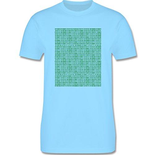 Programmierer - Binärcode - Herren Premium T-Shirt Hellblau