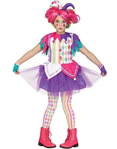 Arco iris de arlequín bufón niños disfraz