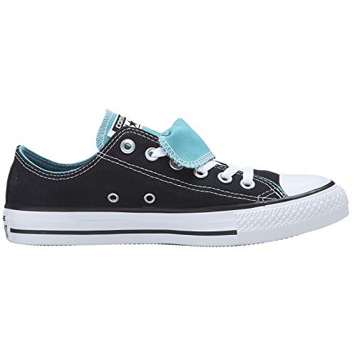 Converse Womens Chuck Taylor Double Tongue Textile Trainers Black White
