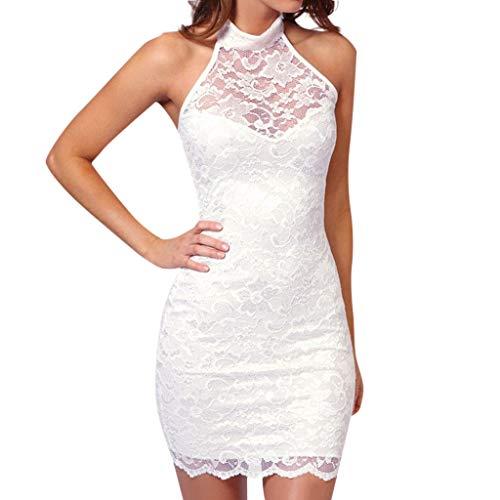 3fedcdfedb1c FRAUIT Vestito Donna Senza Maniche Pizzo, Vestiti Ragazza Senza Schienale  Elegante Abito Eleganti da Cerimonia