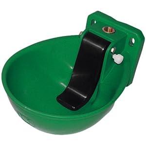 Kerbl 221871 Kunststoff Tränkebecken K71, versenkbare Druckzunge, tiefe Schale