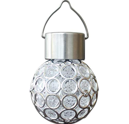 Aua luci solari, lampada a sospensione a led in acciaio inox impermeabile, luce per giardino patio festa decorazioni natalizie