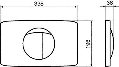 SANIT Betätigungsplatte L für 2-Mengenspülung seidenmatt