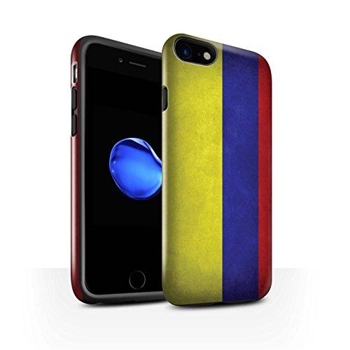 STUFF4 Glanz Harten Stoßfest Hülle / Case für Apple iPhone 7 / Russland/Russische Muster / Flagge Kollektion Columbia/Columbian