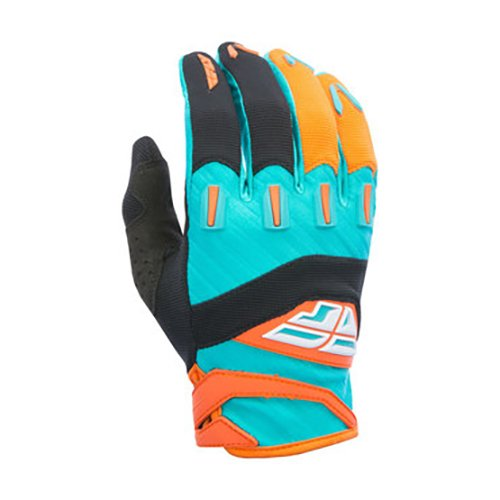 Fly Racing Fly 2017 F-16 adulto guantes, color naranja/azul, talla Tamaño 05