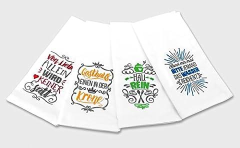 Serviette de table en tissu avec broderie 50x 50cm