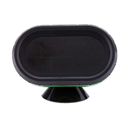 Baoblaze LCD Auto Digital Innen Außen Thermometer Spannungstester Spannungsmesser KFZ PKW Datum Uhr - Orange+Grün