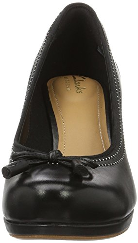 Clarks Damen Chorus Bombay Pumps Schwarz (Black Leather)