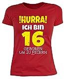 trag-das 16. Geburtstag Mädchen - Leiberl 16 Jahre Geschenk zum 16 Geburtstag Tochter Gr: XL