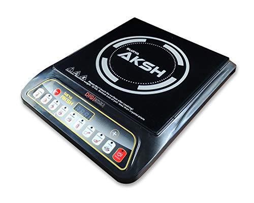 DIGISMART 2000 WATTS CRYSTAL GLASS PLATE SURYA AKSH INDUCTION COOKTOP (BLACK)