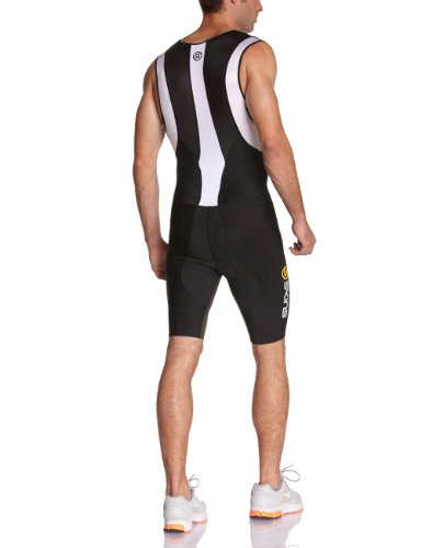 SKINS TRI 400 Mens Skinsuit w Front Zip Black/White