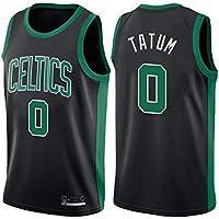 Camiseta de Baloncesto para Hombre, Jayson Tatum # 0 Boston Celtics Youth Ropa Deportiva Unisex sin Mangas Bordado de Malla Swingman Jersey Chaleco Se Puede Lavar repetidamente