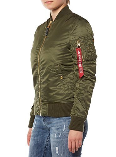 Alpha Industries Damen Jacken / Bomberjacke Ma-1VF Pm Dunkelgrün