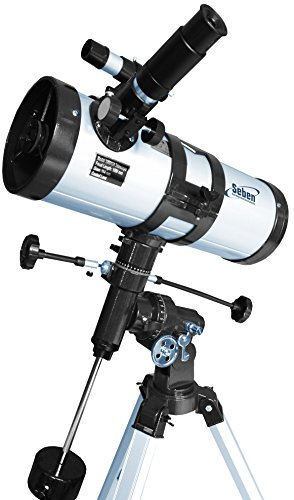 "Telescopio reflector 1000-114 EQ3 de Seben Star-Sheriff incl. ""Big Pack"""
