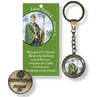 Saint Patrick portachiavi preghiera foglio &