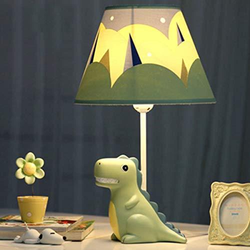 EFGS Resin Dinosaur Cartoon LED Mesa lámpara para niños, niñas, Dormitorio, Regalo de Kindergarten,C45cm*24cm...