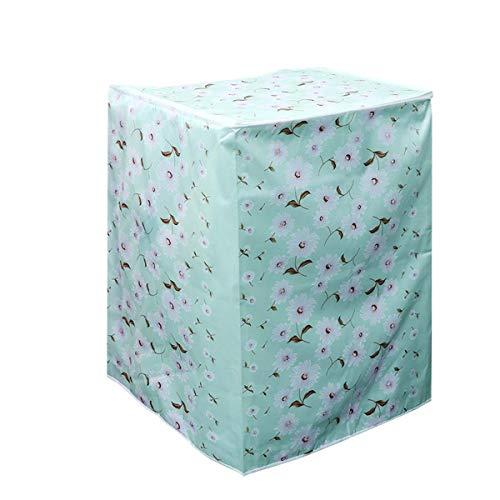 Vosarea coprilavatrice verticale impermeabile con cerniera anti-spruzzi e anti sunlight 55 × 58 × 87 cm (rosa-bianco con verde)