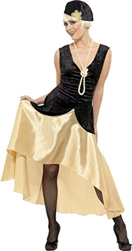 zzle Fancy Dress Party Kostüm 20s Gatsby Girl schwarz & gold (Kostüme Halloween Party Experte)