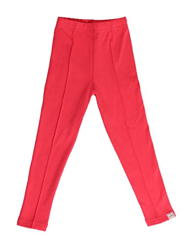 oceankids-girl-casual-trousers-seamless-knit-jogging-fit-slim-jogging-bottoms-rose-red-5-6-years