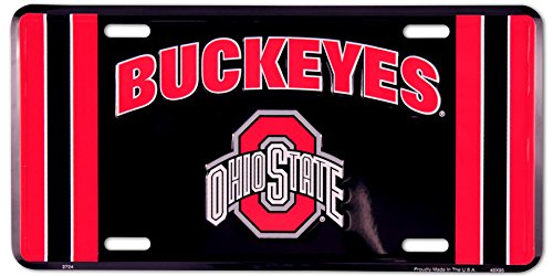 Ohio State Buckeyes Metal License Plate by HANGTIME