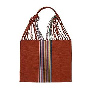 Einkaufstasche Boho Palmira 'rost'; Handgewebt, Handtasche, HANDARBEIT, Tasche, Geschenkidee für Frauen
