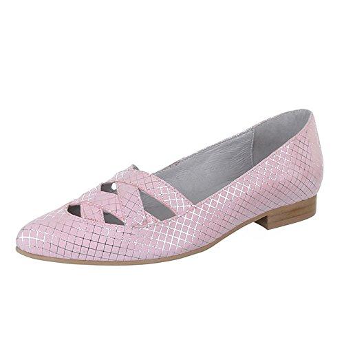 Damen Schuhe, 5235, Pumps, Komfort Leder, Wildleder, Hellrosa, Gr 40