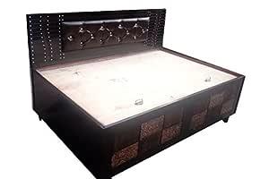 Generic Wood Single Bed Brown 6 4 Amazon In Electronics
