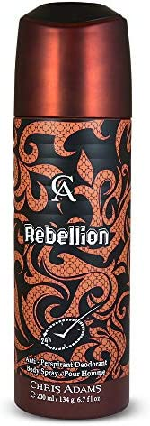 Chris Adams Perfumes Rebellion Pour Homme Deodorant For Men, 200 ml