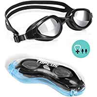 TOPLUS Swimming Goggles, No Leaking Anti Fog UV Protection Swim Goggles Soft Silicone Nose Bridge for Men, Women, Junior, Kids