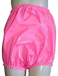 Pantalons en PVC (vinyle, plastique) / culotte / culotte bords élevés. lourdes rose en pvc, rose brillant, profond