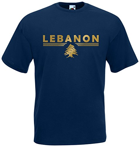 Libanon Lebanon T-Shirt Fanshirt Navyblau