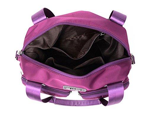 Auspicious beginning Neue beiläufige Art Multifunktionshandtasche mit zwei Fronttaschen schwarz Lila