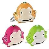 Omnibus Monkey Milo - Nuevo inhalador para niños Aparato para medicamentos líquidos con compresor Nebulizador (Verde)