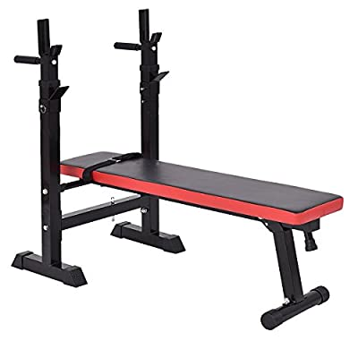 Heavy Duty Adjustable Folding Weight Bench Multi Sit up Workout Barbell Dip Station Lifting Chest Press Exercise Gym by Lcukywing