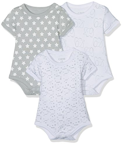 Care Body Bebé-Niños, pack de 3, Multicolor (Light Grey 142), 80