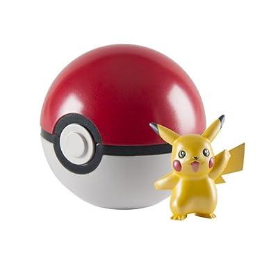 Pokemon Pikachu Figura 20 aniversario con metálico Pokeball por CYP Imports