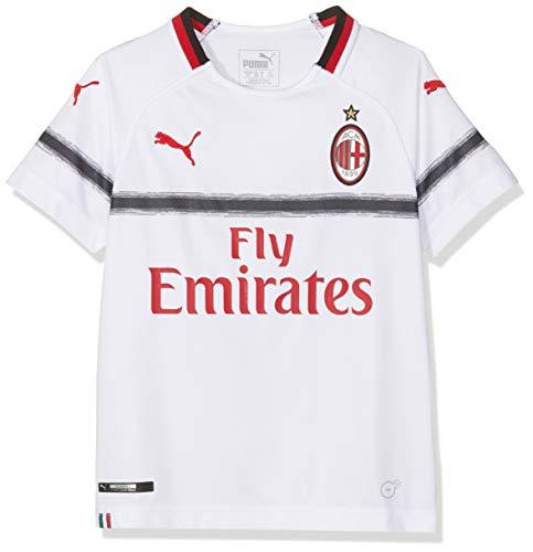 7b0aff3273d217 Puma AC Milan Away Replica SS with Sponsor Logo Camiseta, Niños, Blanco  (White