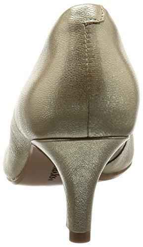 Clarks 261230254, Scarpe con Tacco Donna Oro (Champagne)