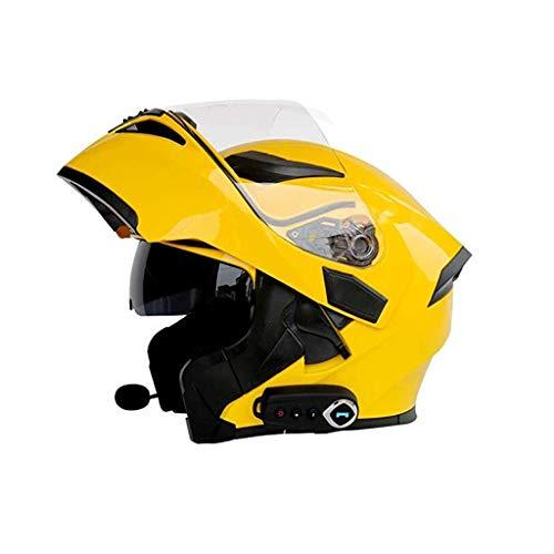 Motorrad Bluetooth Helm Modular Flip Musik Full Face Smart Helm Auto Antwort Kopfhörer Multifunktions Helm FM Doppel Spiegel Anti-Fog (Size : L) (Antwort Helm Racing)