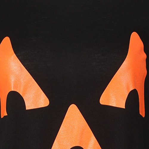 Mesdames filles Halloween grand visage de citrouille Imprimer Robe trapèze EUR Taille 36-54 Noir