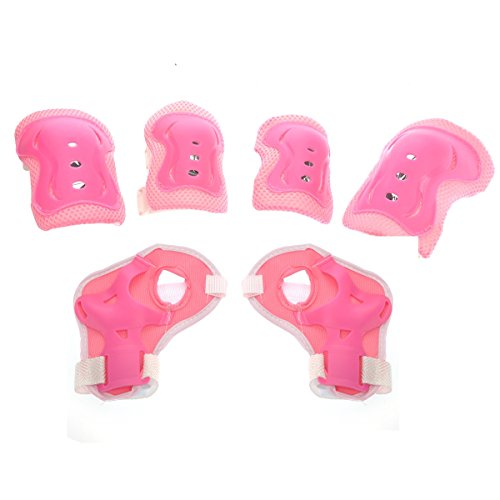 leorx-6pcs-knee-elbow-wrist-protector-guard-pad-gear-for-child-kid-roller-skating-skateboard-cycling