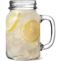 The Original Mason Drinking Jar Glasses 1 Pint - Set of 4 - Gift Boxed Drinking Jars for Cocktails and Smoothies