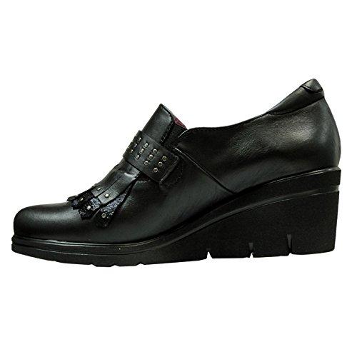 Helle Comfort Womens Dahiba Leather Shoes Du Vin