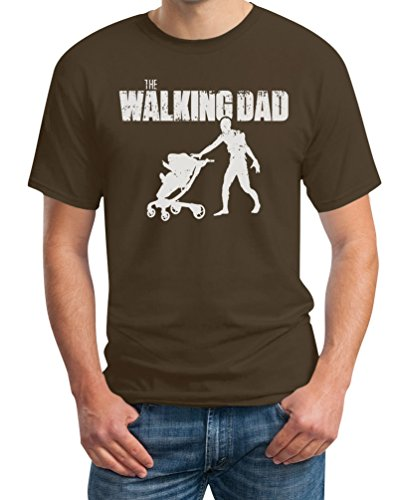 The Walking DAD - Das perfekte Vatertagsgeschenk T-Shirt Braun