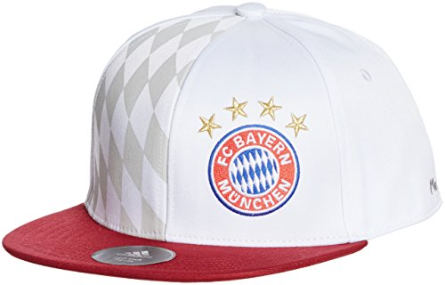 adidas Fc Bayern Flat Mütze White/Collegiate Burgundy