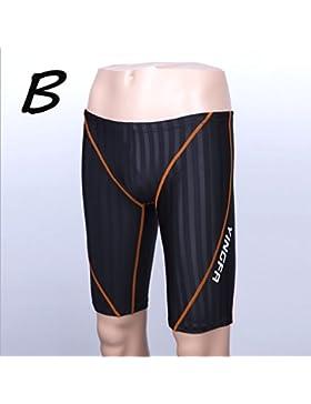 iiinnine Hombres Cómodo Cuadrilátero Troncos de natación Pantalones de playa Pantalones de aguas termales, B, l