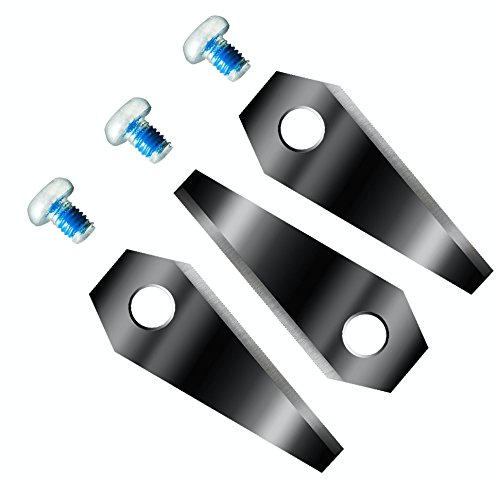 TITAN!! BLACK LABEL EXTREME!!! Nochmals härter und schärfer! 6 Ersatzmesser extrahart für Bosch Indego Titan-Karbid beschichtet 2-seitig - wendbar Klingen Ersatzklingen